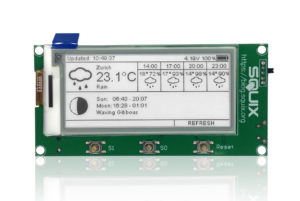 WiFi ePaper display with Weather Station application