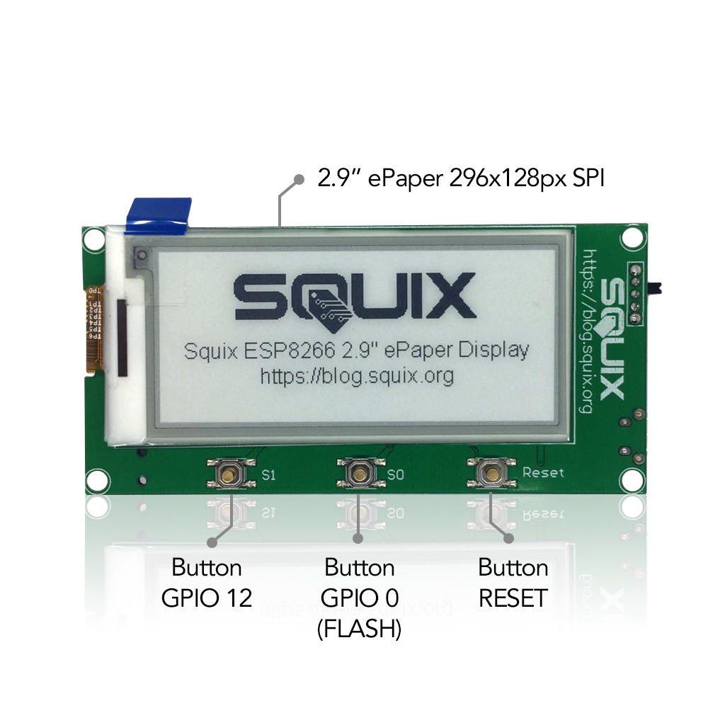 "2.9"" ESPaper Lite Kit, WiFi epaper display • ThingPulse"